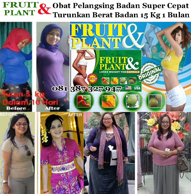 FRUIT PLANT obat pelangsing badan alami super cepat, obat pelangsing fruit plant