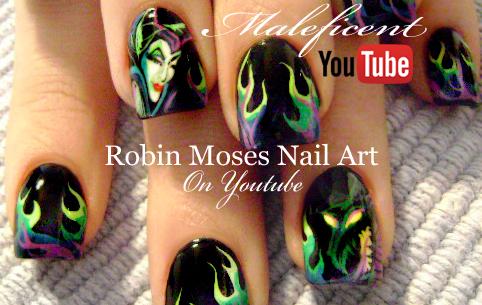 Nail Art By Robin Moses Maleficent Nails Evil Disney