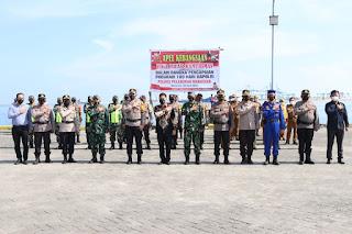 Apel 3 Pilar Polres Pelabuhan Makassar dalam Pencapaian Program 100 hari Kapolri serta Cegah Penularan Covid-19