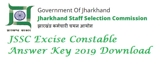 JSSC Excise Constable Key 2019