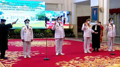 Presiden Joko Widodo Lantik Olly-Steven di Istana Negara