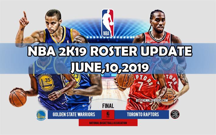 NBA 2K19 OFFICIAL ROSTER UPDATE 6 10 19 [FOR 2K19] - NBA 2K Updates
