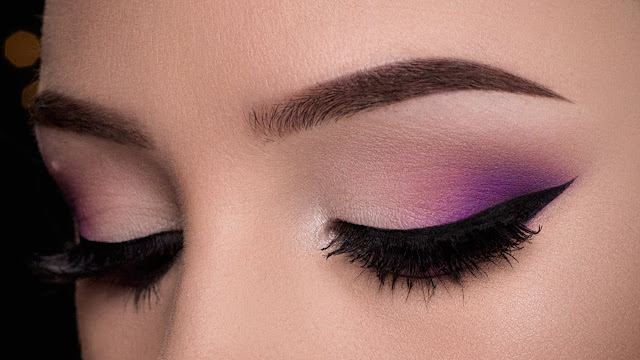 7 Best Summer Daytime Looks purple eyeshadow