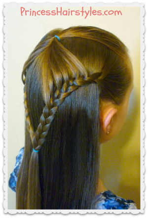 Half Up Hairstyle Fairy Wings Braid Hairstyles For