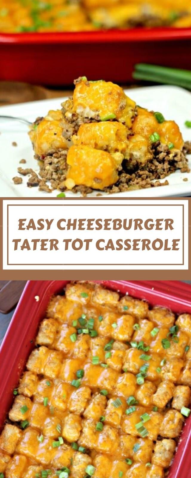 EASY CHEESEBURGER TATER TOT CASSEROLE