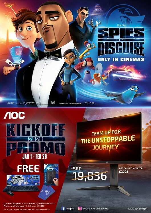 AOC is the Official Monitor Partner of Spies in Disguise