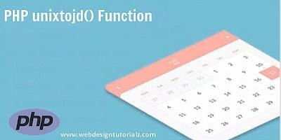PHP unixtojd() Function