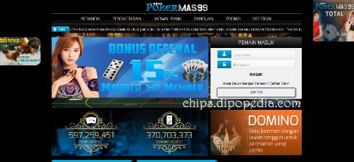 Screenshot Beranda Pokermas99