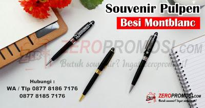 Souvenir Pen Besi Montblanc, pen besi Custom Grafir Logo, Pen Besi Murah, pen montblanc promosi