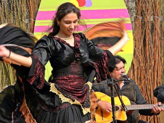 Dzień Romów, taniec, gra, scena