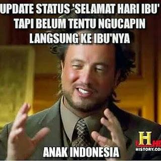 Anak Indonesia update status duluan