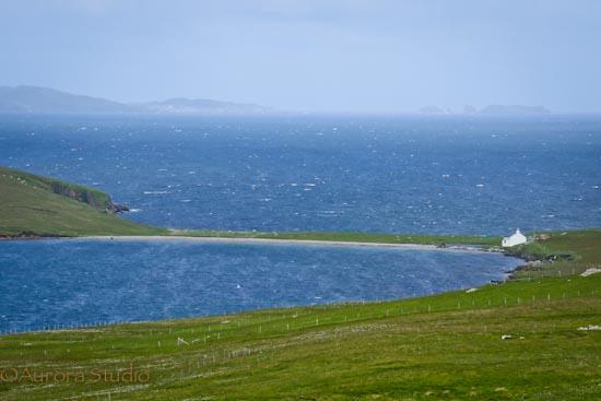 シェトランド諸島のイェール島の風景。