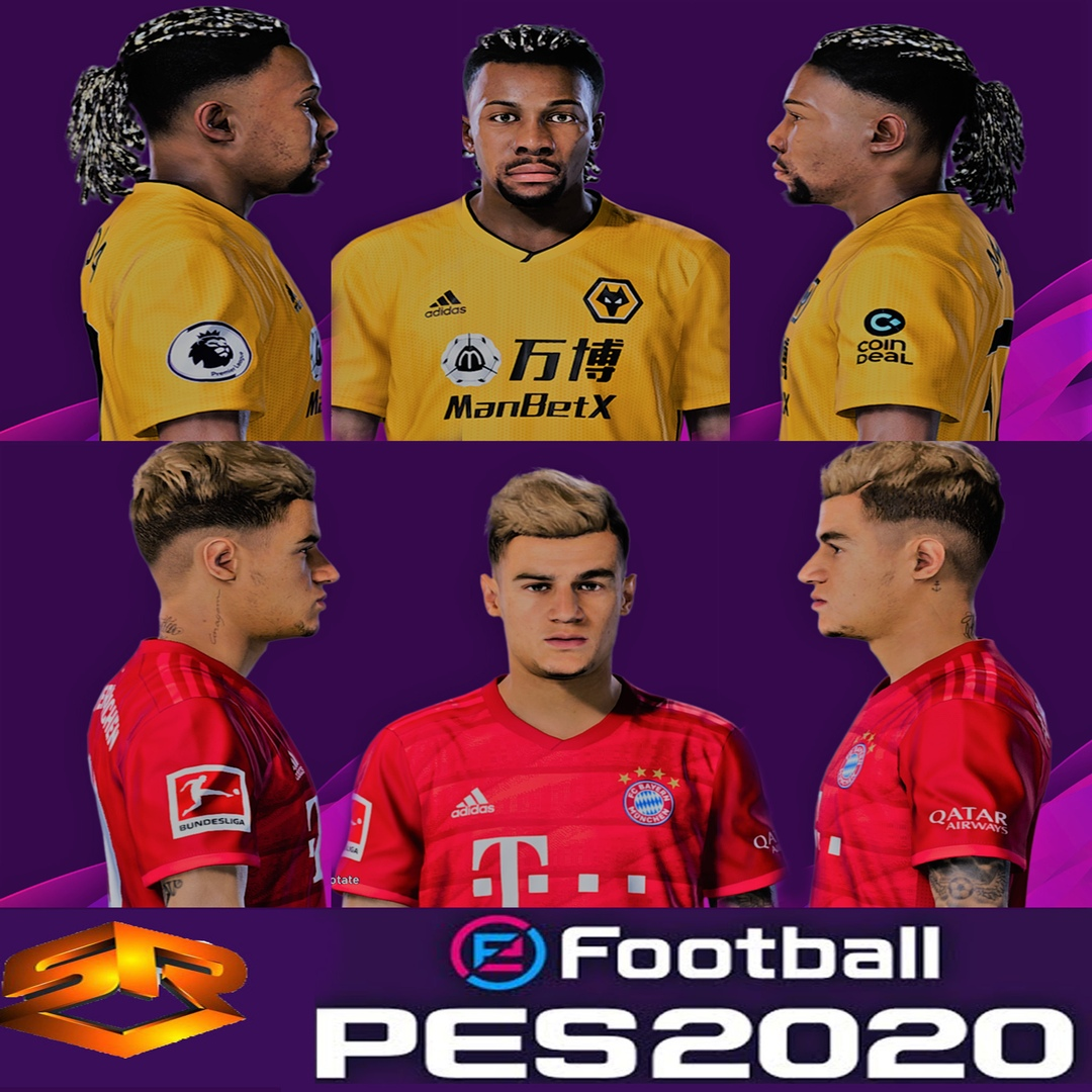 Pes 2020 Faces Adama Traore Philippe Coutinho By Sr Soccerfandom Com Free Pes Patch And Fifa Updates