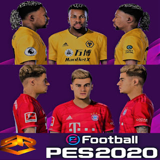 Pes 2020 Faces Adama Traore Philippe Coutinho By Sr Pesnewupdate Com Free Download Latest Pro Evolution Soccer Patch Updates