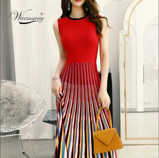 2019 New multi Striped Sleeveless Bodaycon Dress Women Slim Fashion Pleated Casual Knitted Midi Dress Elegant Elastic C-170, Women's New multi Striped Sleeveless Bodaycon Dress, 60% Discount Of Women's Fashion, Fashiontinted