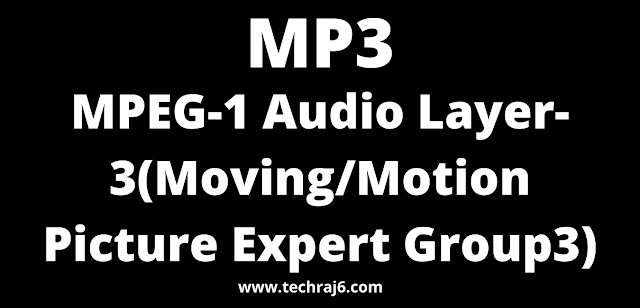 MP3 full form, What is the full form of MP3