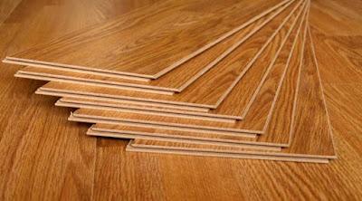 lantai kayu dari serbuk kayu