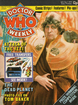Doctor Who Weekly #4, Tom Baker, attack of the yeti, free transfers