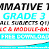Summative Test Grade 3 All Subjects Q1