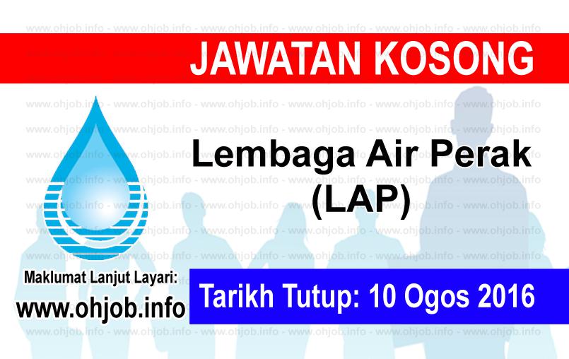 Jawatan Kerja Kosong Lembaga Air Perak (LAP) logo www.ohjob.info ogos 2016
