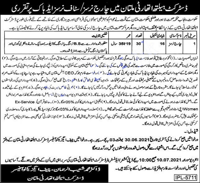 District Health Authority Multan Jobs 2021 | Health Department Jobs 2021 Latest