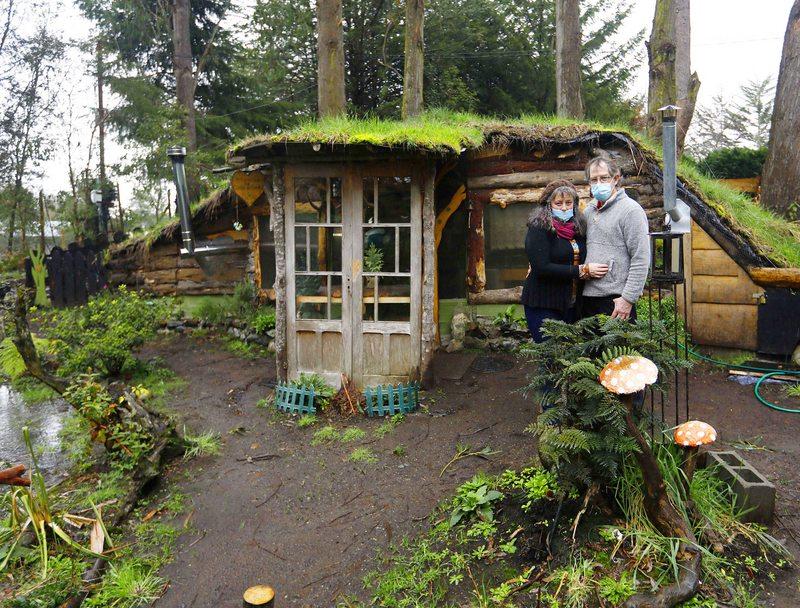 Casa de la Tortuga la cabaña de cuentos  y a bajo costo que armó un matrimonio