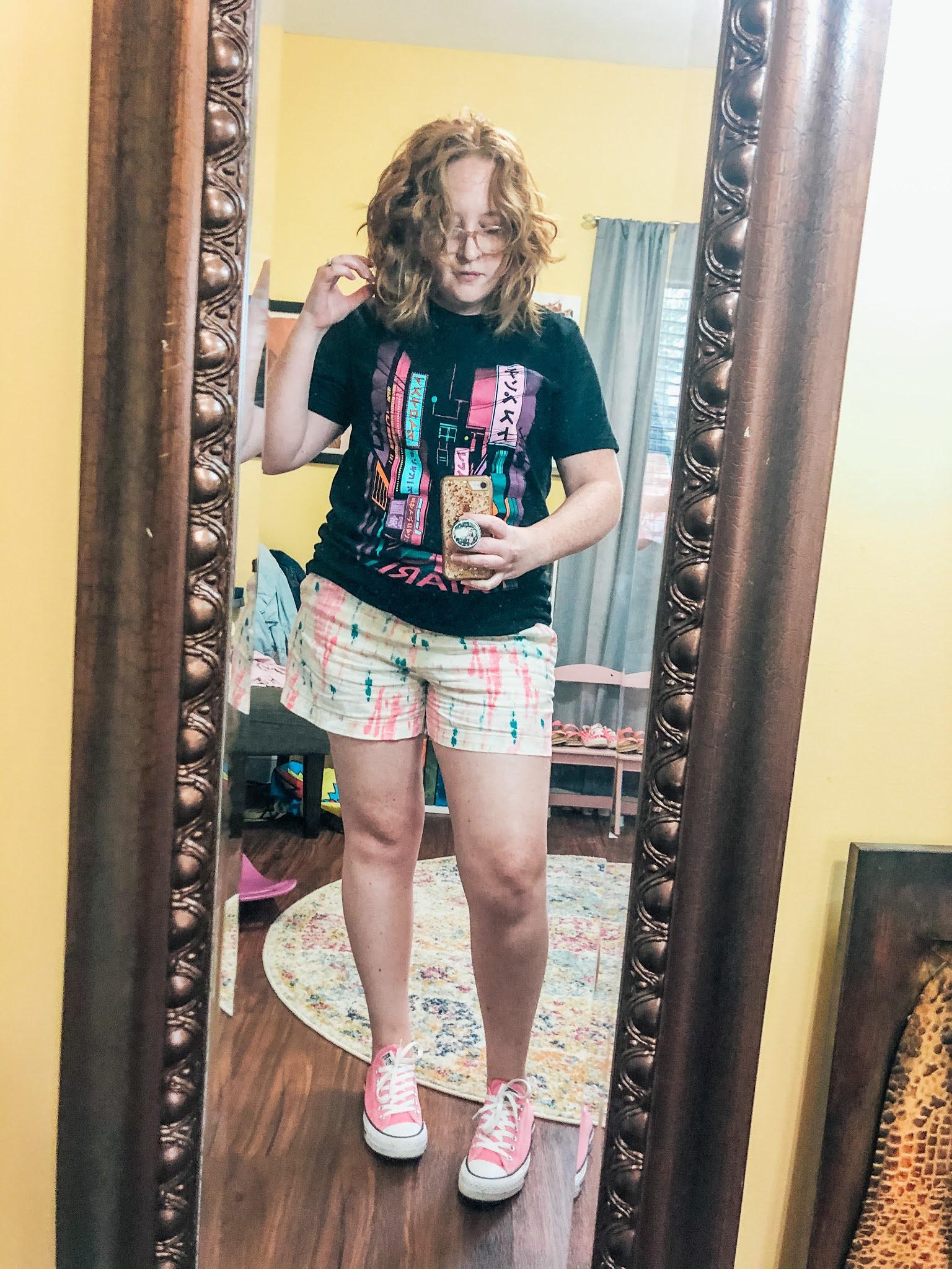atari-graphic-tee-tie-dye-shorts