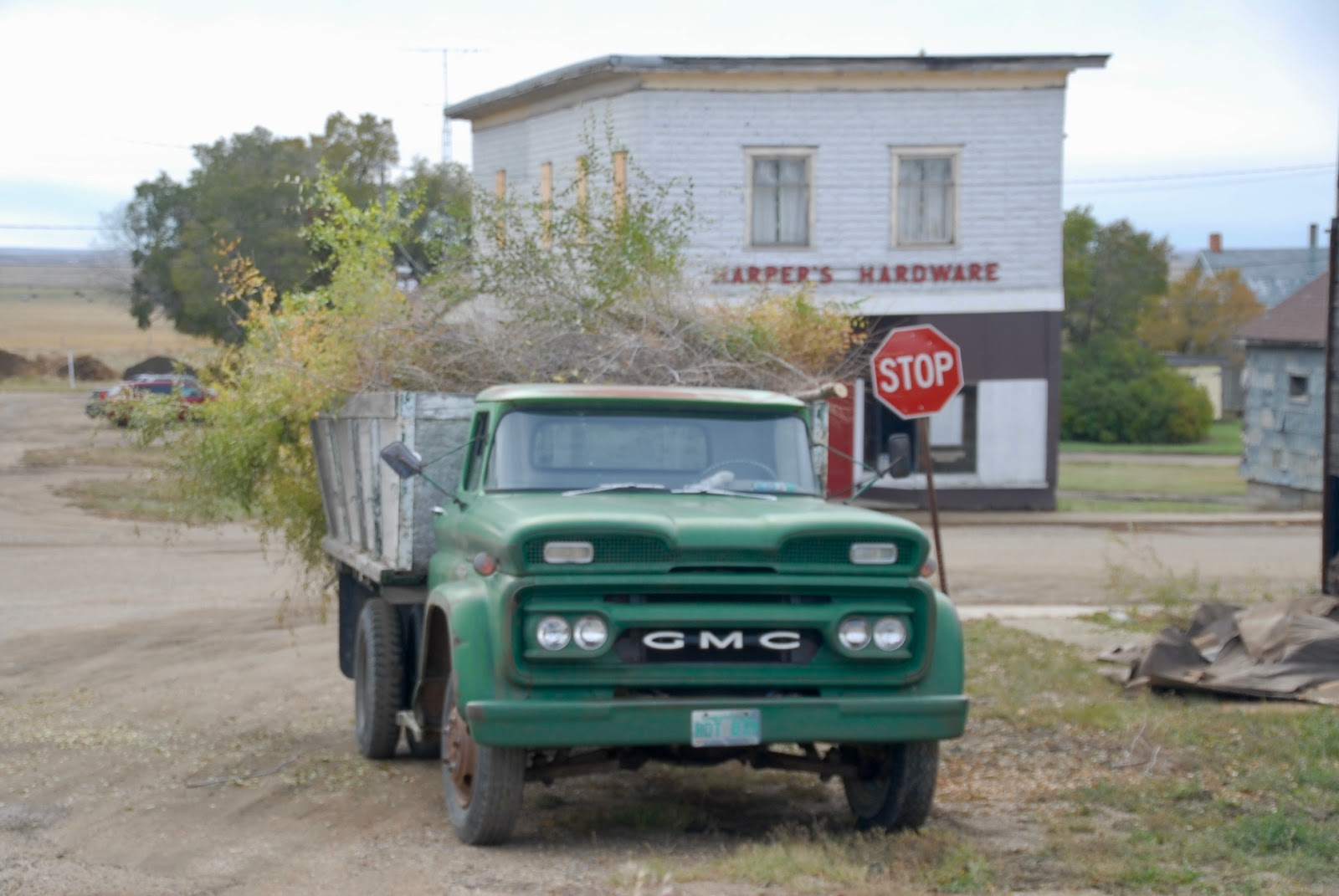 medium resolution of 1962 gmc 5000 from alex emond this green truck was parked in kincaid saskatchewan mid chore impressive front on this machine all business