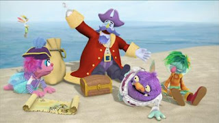 Captain Hook pirate treasure, Abby's Flying Fairy School Treasure Hunt, Abby Cadabby, Blögg, Gonnigan, Mrs. Sparklenose, Sesame Street Episode 4323 Max the Magician season 43