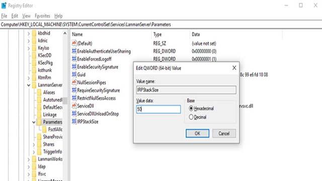 Mengatur IRPStackSize - Cara Mempercepat Koneksi Wifi