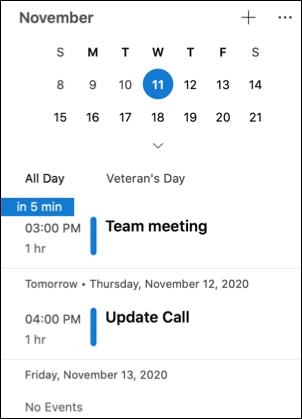 أجندة يومي في Outlook