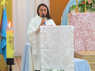 Imagens da Coroação de Nossa Senhora na Igreja Matriz em Almino Afonso