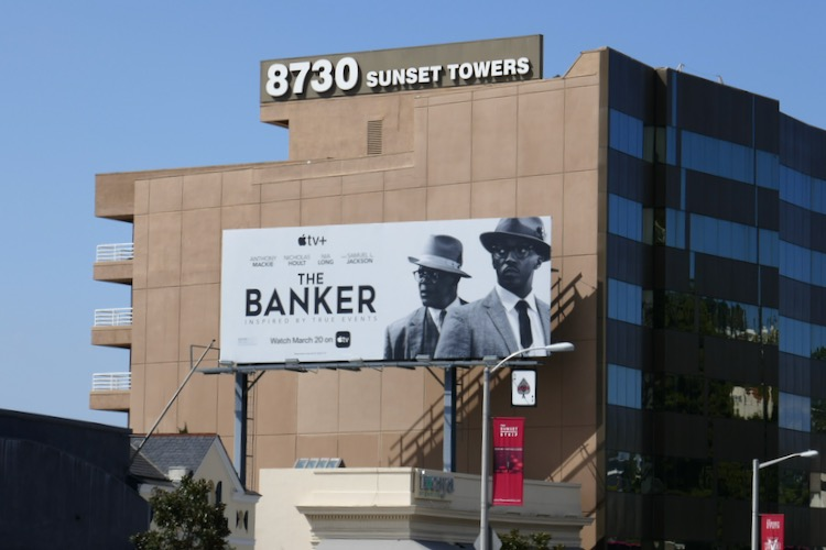 Banker Apple TV film billboard