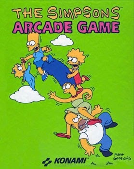 The Simpson+arcade+game+portable+retro+art+flyer