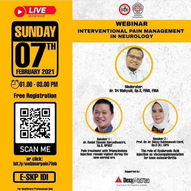 Free E-SKP IDI  Webinar International Pain Management Pain in Neurology