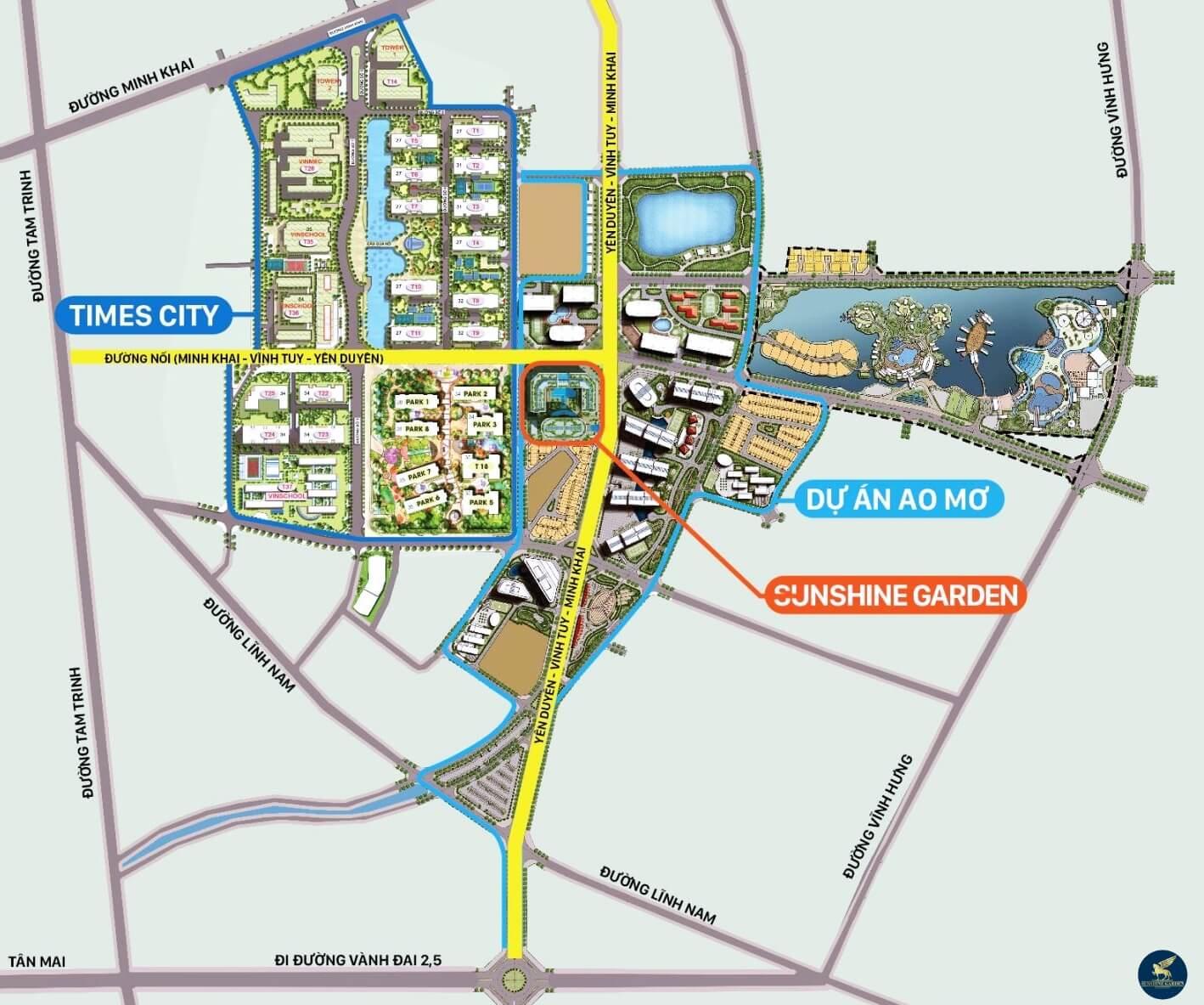 Quy hoạch tuyến đường Minh khai - Vĩnh Tuy - Yên Duyên