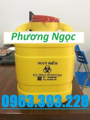 Bình hủy kim tiêm y tế, hộp đựng vật sắc nhọn 6.8 Lít, hộp hủy kim tiêm H%25C4%2590KT6.8L5