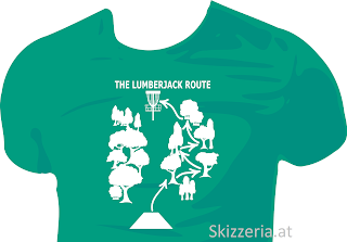 Lumberjack Route Disc Golf Shirt