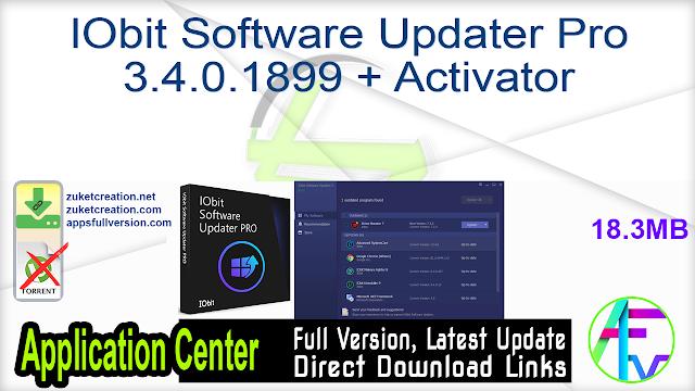 IObit Software Updater Pro 3.4.0.1899 + Activator