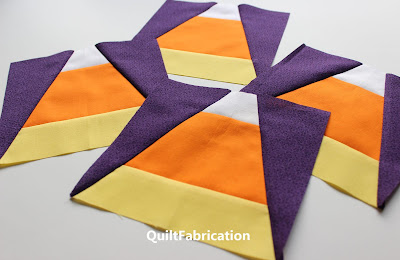 candy corn quilt blocks by QuiltFabrication
