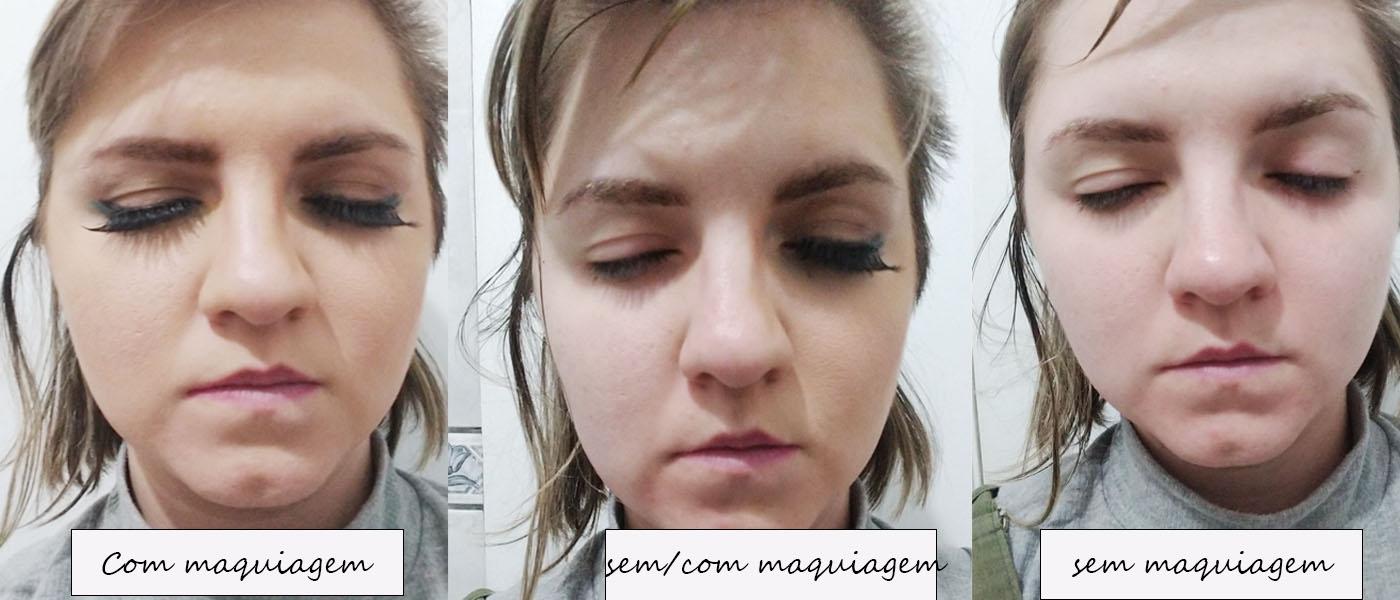 maquiagem retirada com água micelar