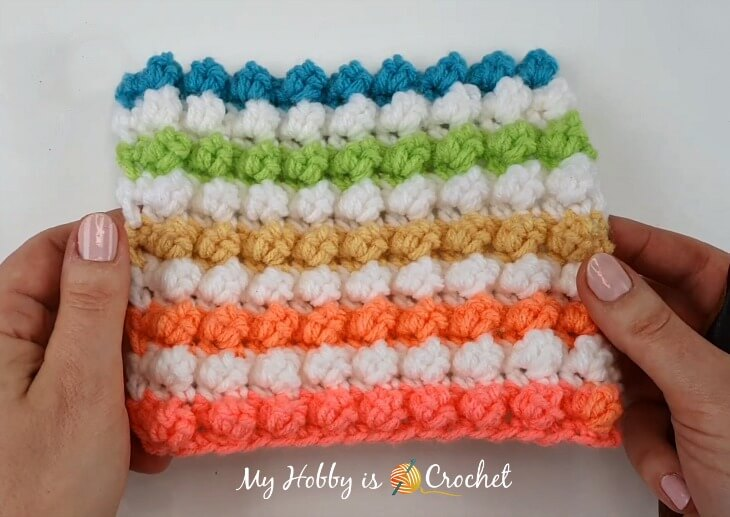 Even Bobble Single Crochet  Stitch Tutorial