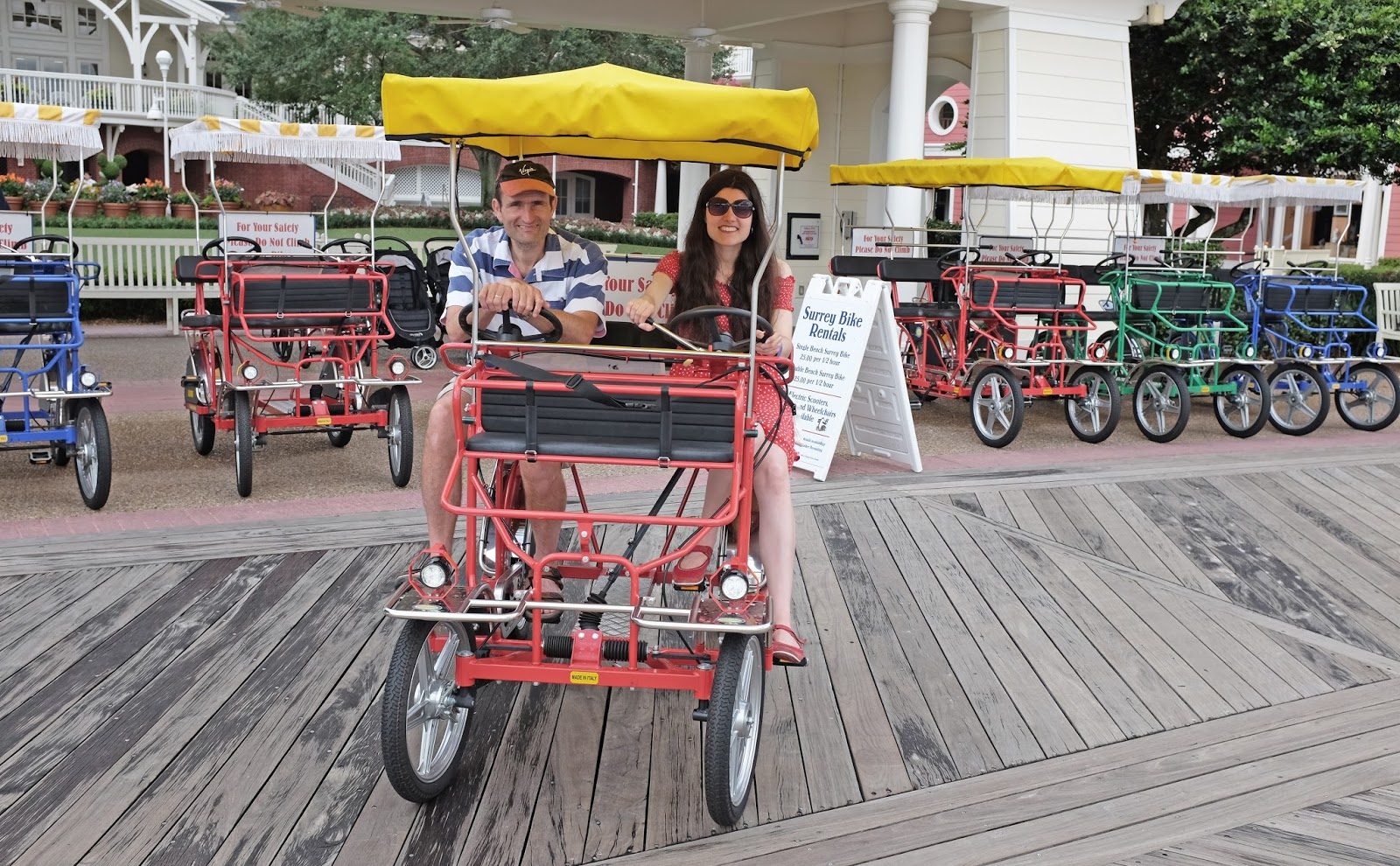 Surrey bike rentals at Walt Disney World