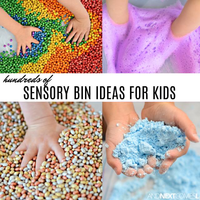 100+ autism sensory bin ideas