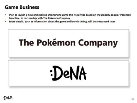 DeNA Mengungkapkan Rencana untuk Bermitra Dengan The Pokémon Company di Game Pokémon Smartphone