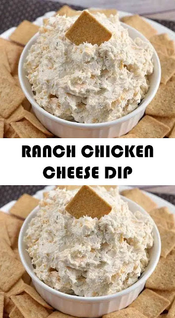 RANCH CHICKEN CHEESE DIP #RANCH #CHICKEN #CHEESE #DIP