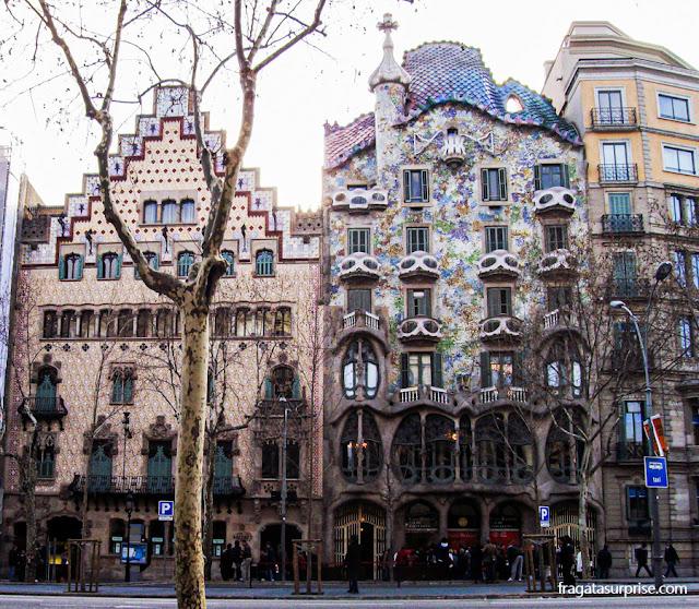 Quadrat d'Or ou Ilha da Discórdia, Passeig de Gràcia, Barcelona