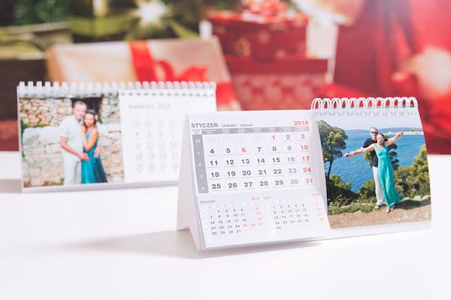Kalendarze biurkowe z własnymi zdjęciami