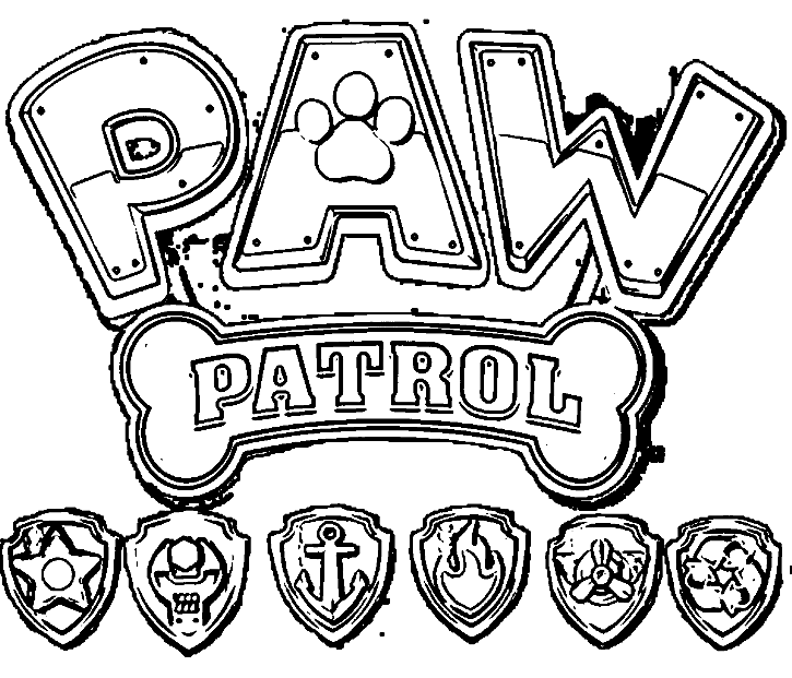 Paw patrol coloring pages coloring page for Printable paw patrol coloring pages