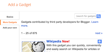 Cara Menambahkan Kotak Pencarian wikipedia di Blog